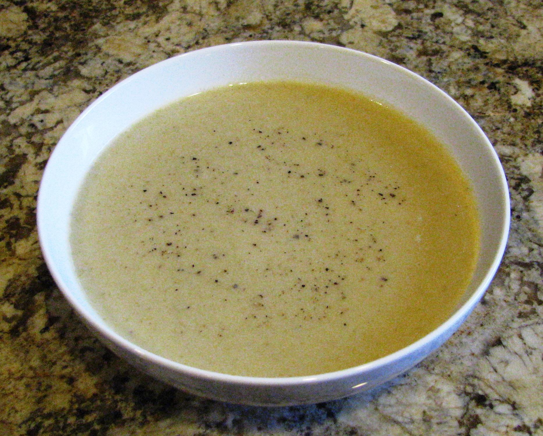Celery soup done