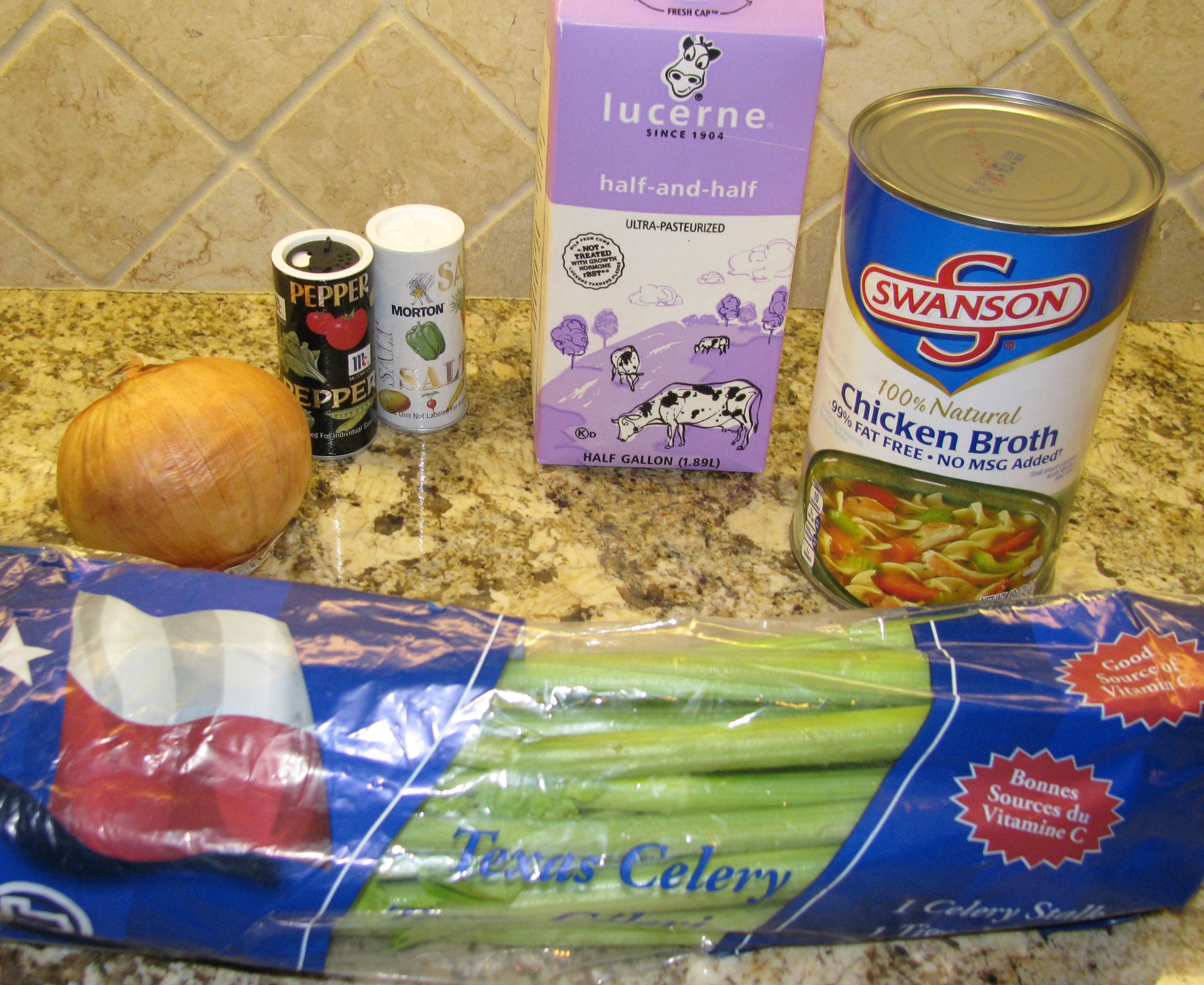 Celery soup ingredients