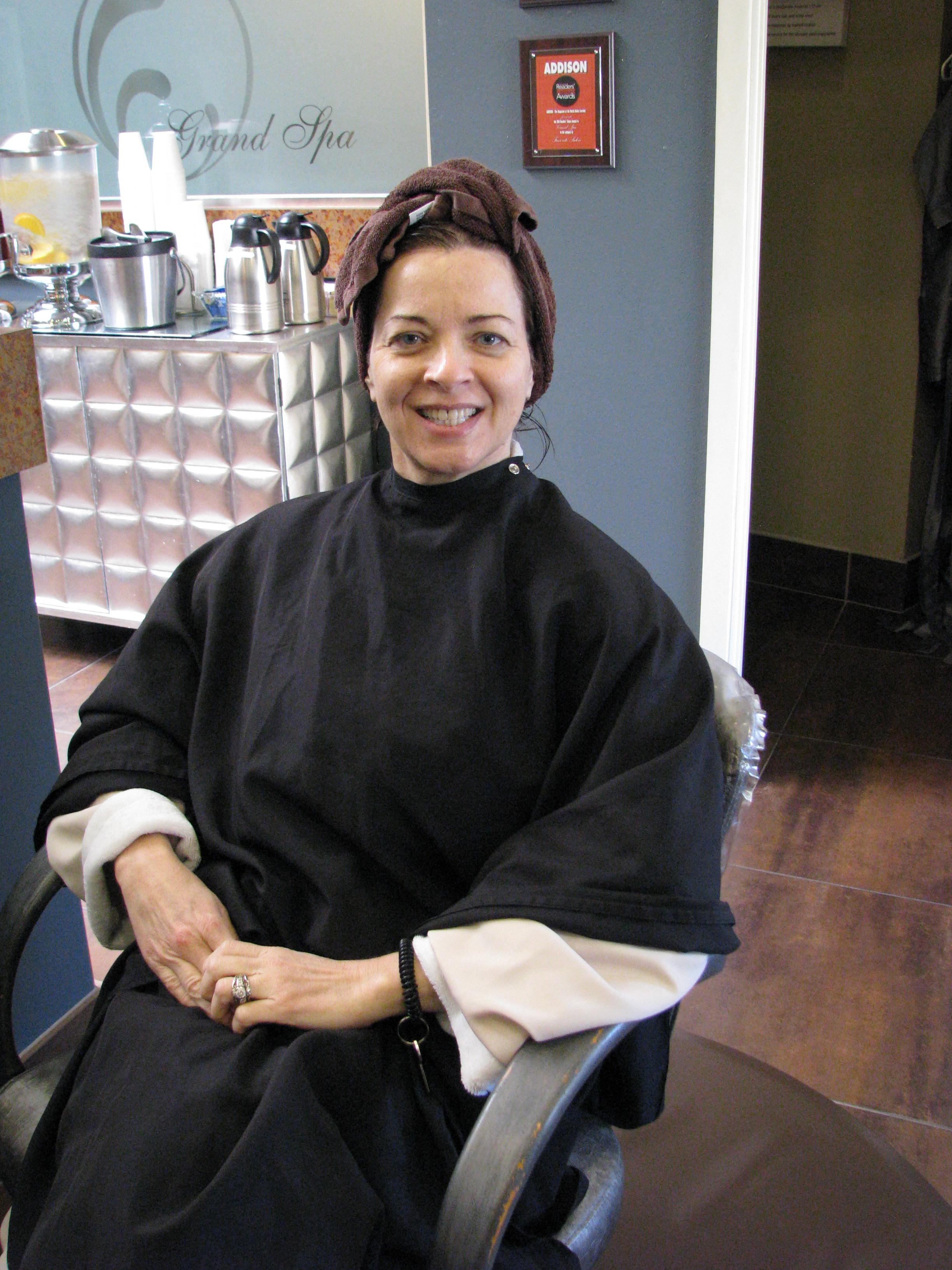 Paula at hair spa salon