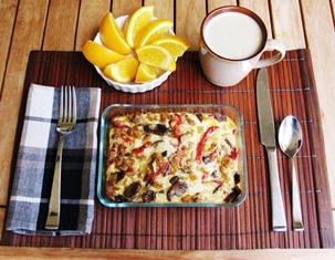 Make Ahead Breakfast Casserole - PaulaReyne.com - Pic  - 303x235