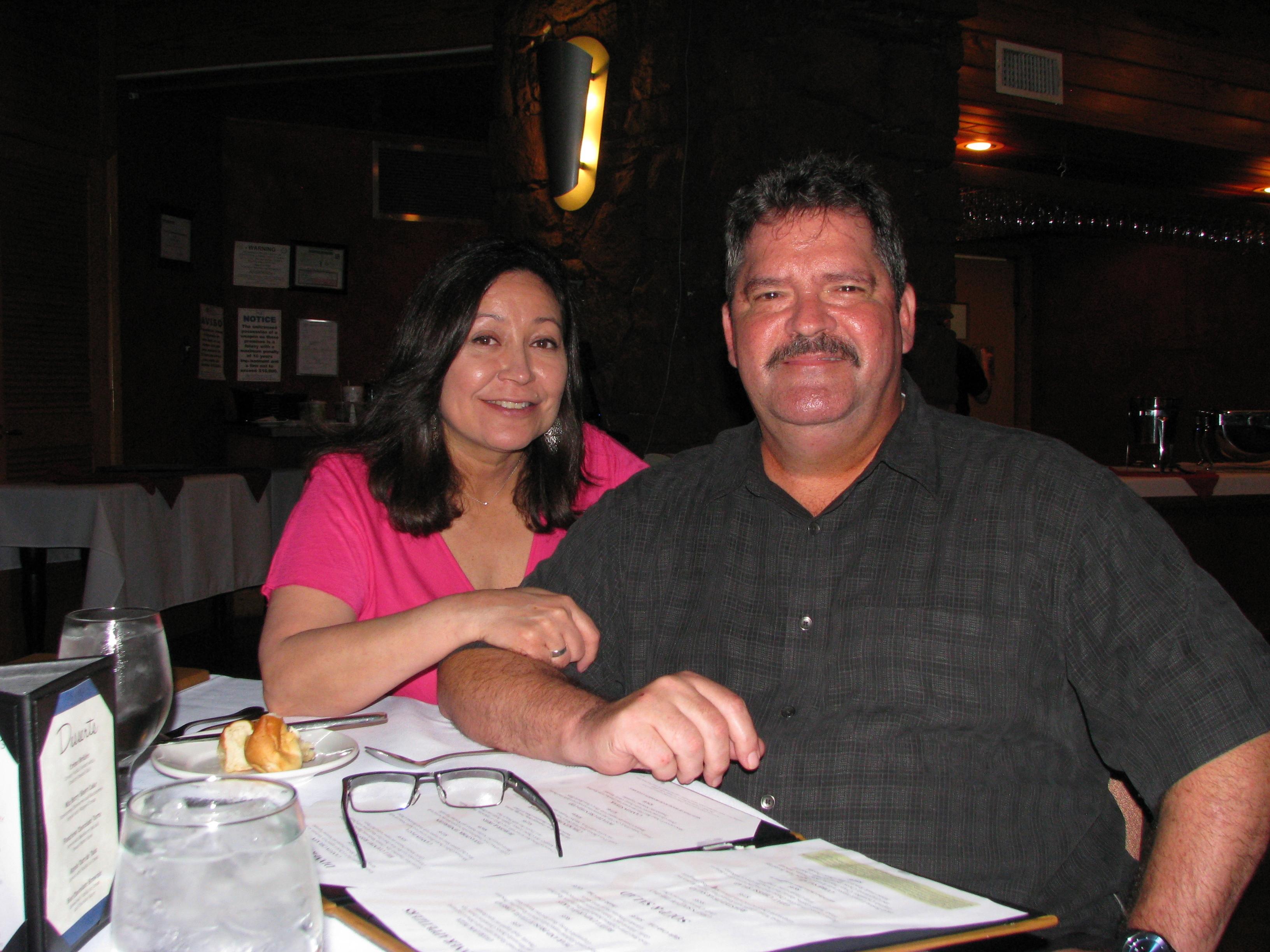 Ron & Debbie at resturant