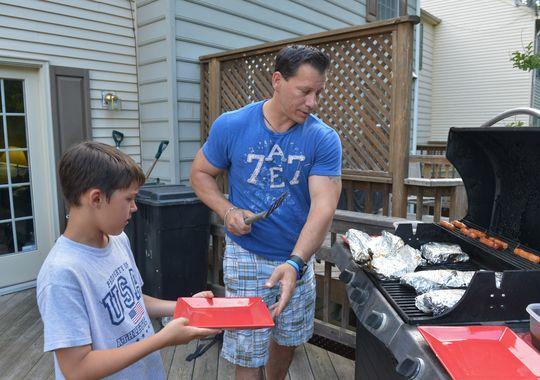 Dad grilling