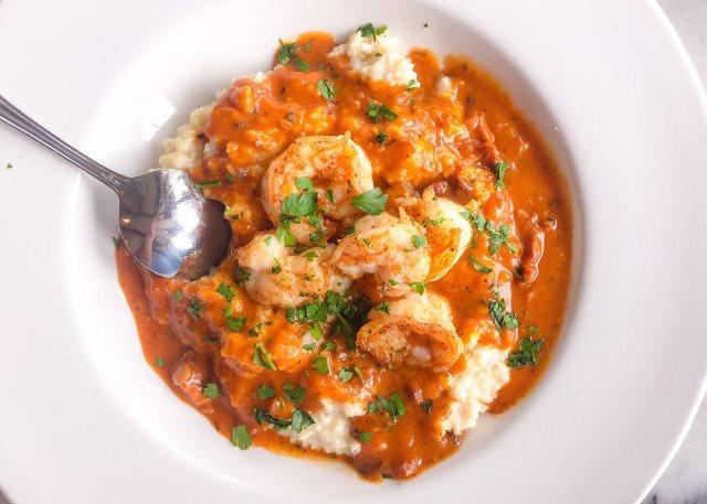 PaulaReyne.com Shrimp & Grits 640x457